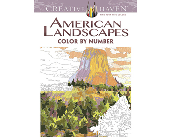 American Landscapes Color by Number Litabók - 9780486798554