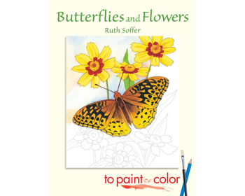 Butterflies and Flowers, paint or color Litabók - 9780486444963