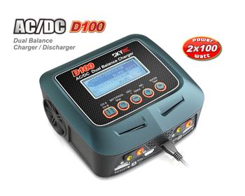 SkyRC D100 AC/DC 100W Dual Charger - SK100089