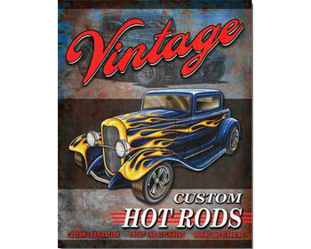 Vintage Hot Rod sign - TD1567