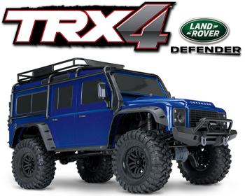 Traxxas TRX-4 Scale Crawer Land Rover Defender Blár - TRX82056-4