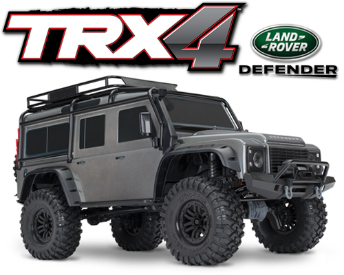 Traxxas TRX-4 Scale Crawer Land Rover Defender Grár - TRX82056-4